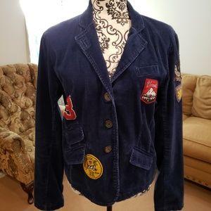 Women's American Eagle Blazer Corduroy w/Patches